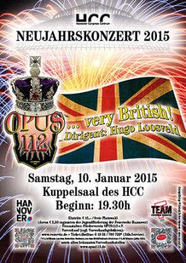 Plakat zum Neujahrskonzert 2015